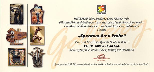 2003 Spectrum Art v Prahe pozvanka