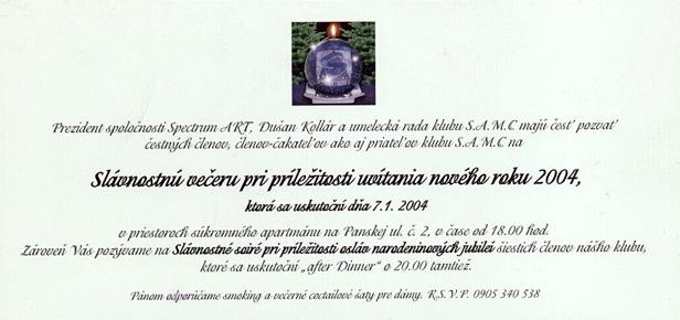 2004 Novy rok pozvanka