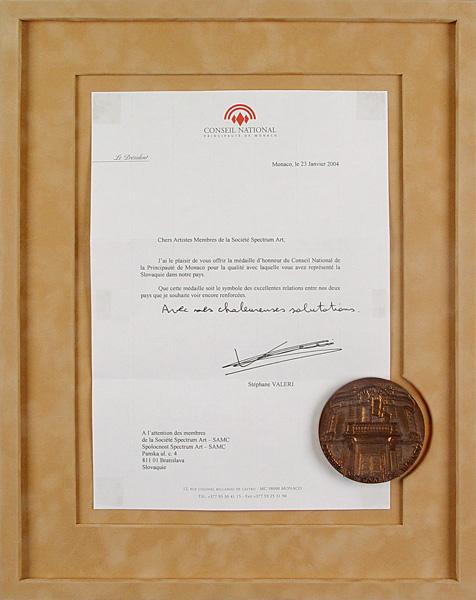 Pamätná medaila predsedu parlamentu Monackého kniežactva